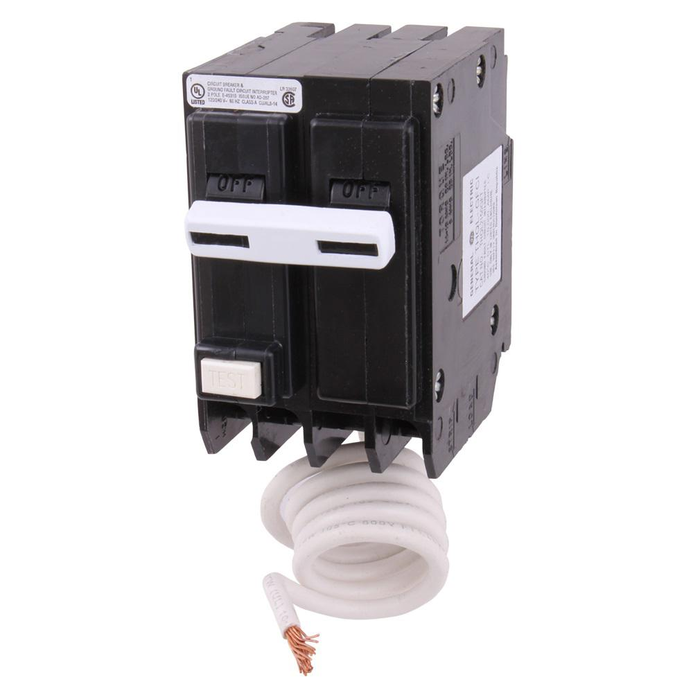 GE Q-Line 20 Amp 1 in. Double-Pole Circuit Breaker-THQP220 - The ...