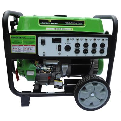 Energy Storm 6000/6500-Watt Gas Powered Electric/Recoil Start Gasoline Powered 420 cc Portable Generator with Wheel Kit