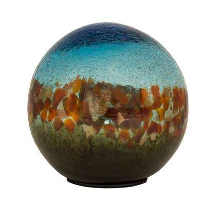 7 in. Art Glass Solar Gazing Ball, Serendra