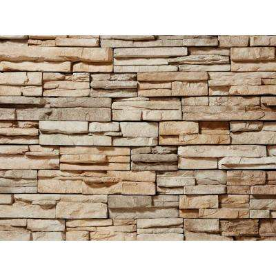 12 in. x 2.5 in. Manufactured Stone Prostack Tan Flat Siding 5 sq. ft.