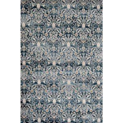 Dorsey Hall Floral Blue 5 ft. 3 in. x 7 ft. 3 in. Indoor Area Rug