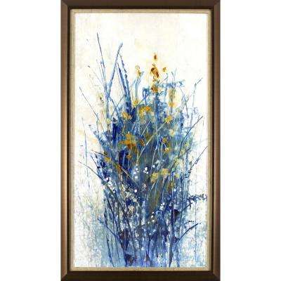 32.75 in. x 18.75 in. Floral Burst Printed Framed Wall Art