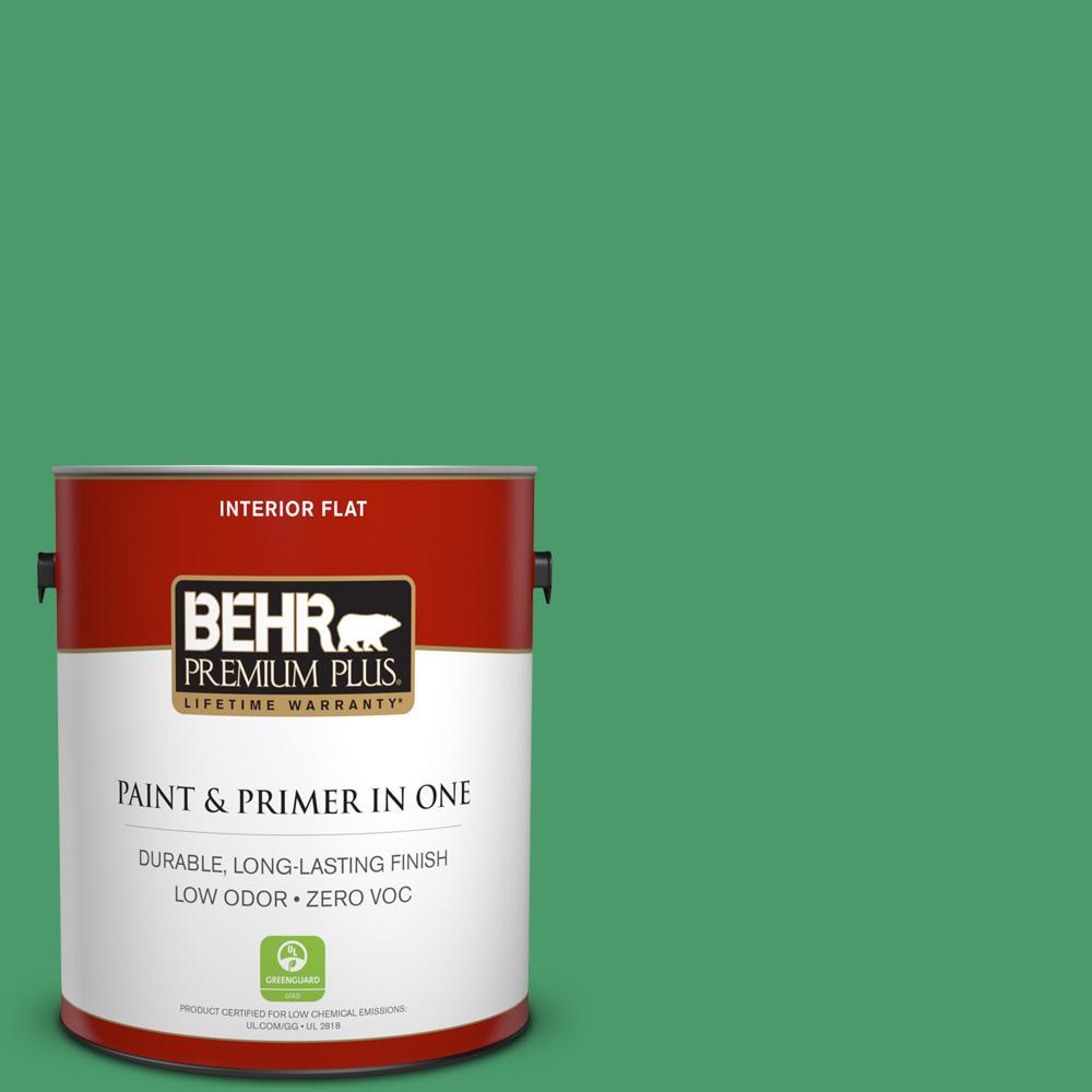 BEHR Premium Plus 1-gal. #P410-6 Solitary Tree Flat Interior Paint, Greens