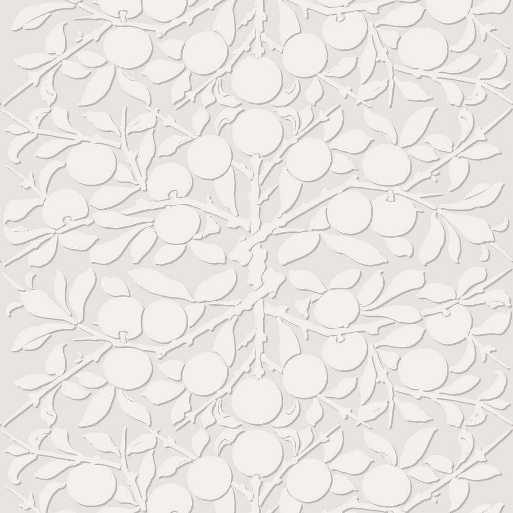 Debut Collection Peach on the Vine in Silver Premium Matte Wallpaper