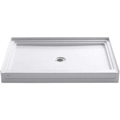 Tresham 48 in. x 36 in. Single Threshold Shower Base in White