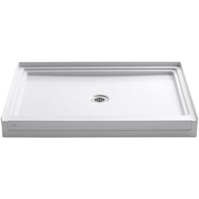 Tresham 48 in. x 36 in. Single Threshold Shower Base with Center Drain in White