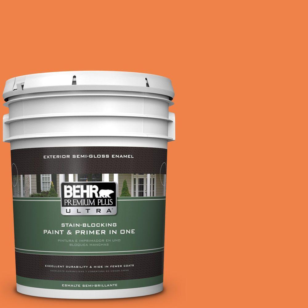 5-gal. #240B-6 Orange Zest Semi-Gloss Enamel Exterior Paint