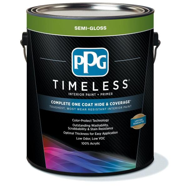 Reviews For Ppg Timeless 1 Gal Hdppgcn61 Universal Grey Satin Exterior One Coat Paint With Primer Hdppgcn61x 01sa The Home Depot