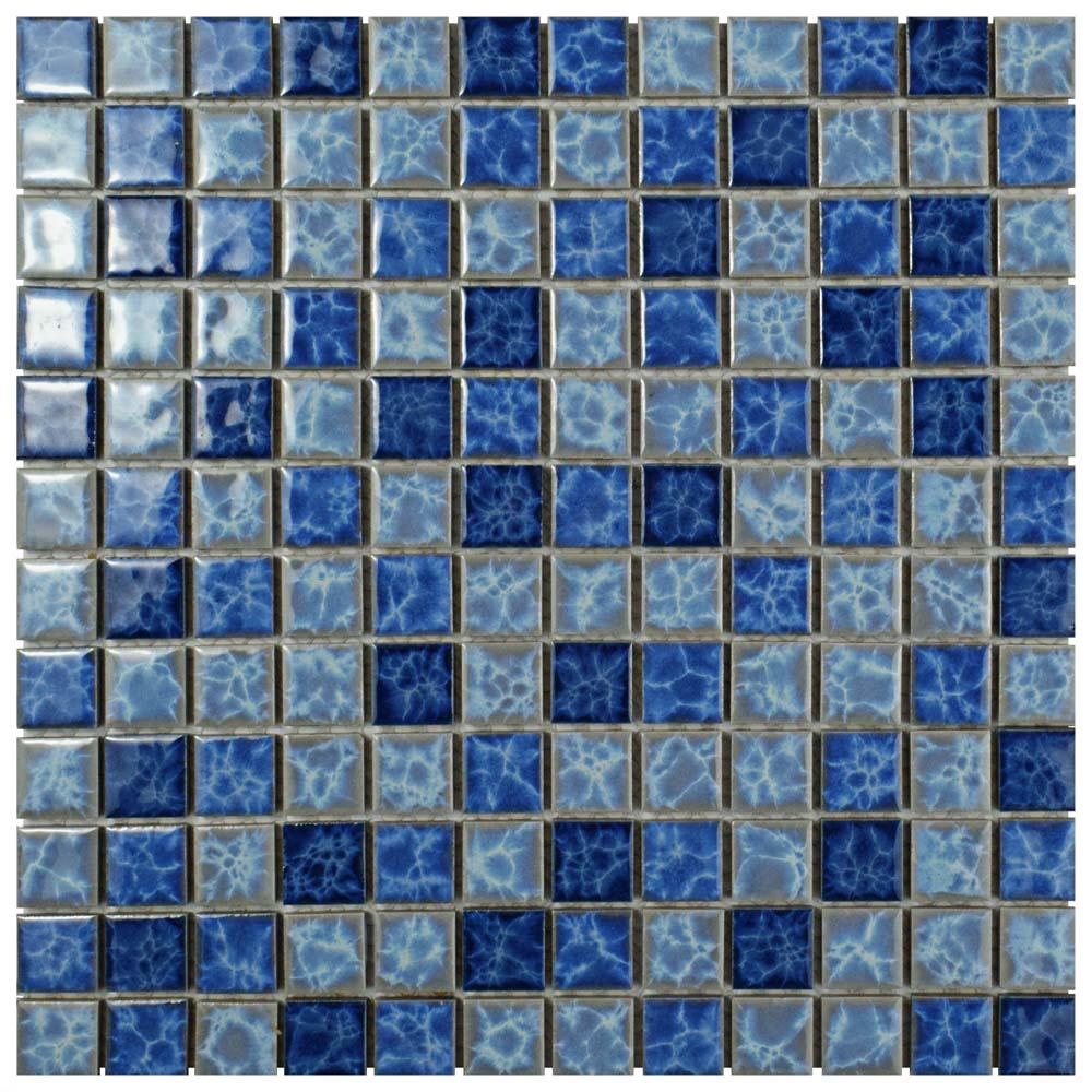 Merola Tile Watersplash Square Aegean 11-3/4 in. x 11-3/4 in. x 6 mm Porcelain Mosaic Tile