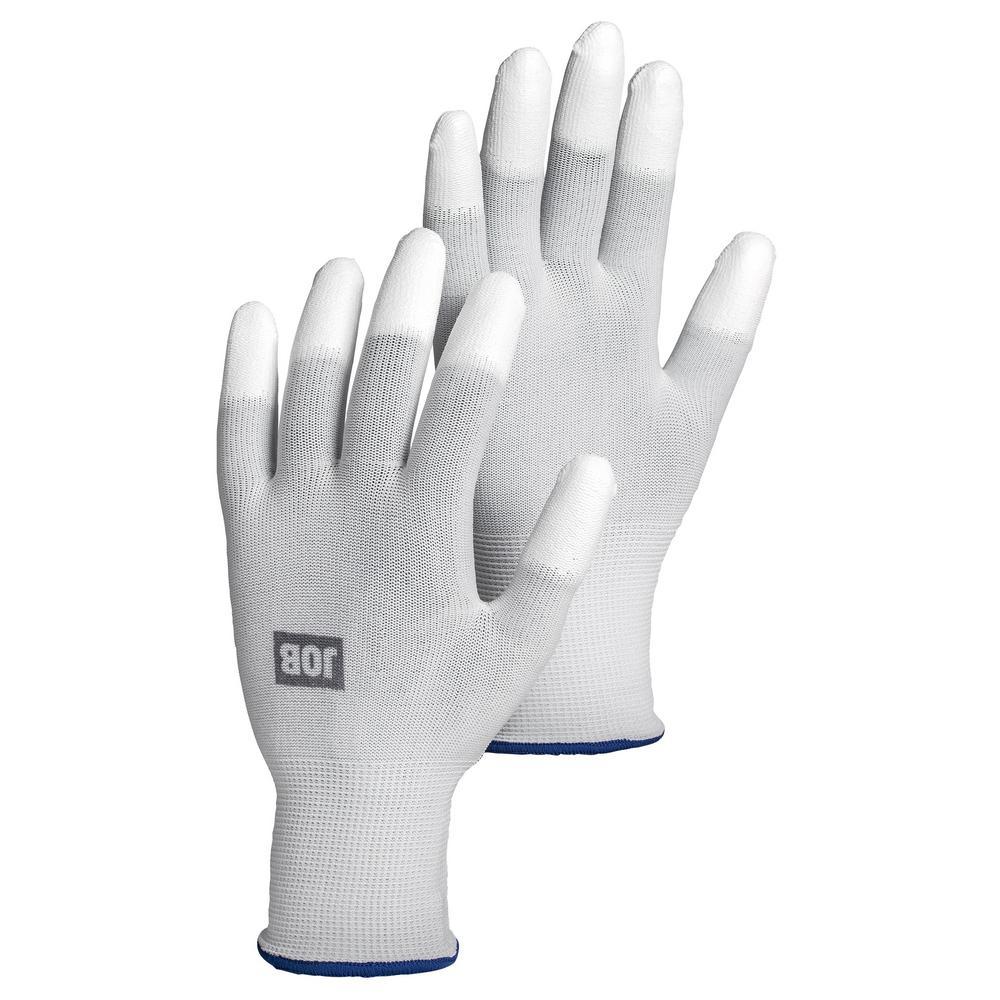 Top Size 6 White PU Dipped Nylon Glove