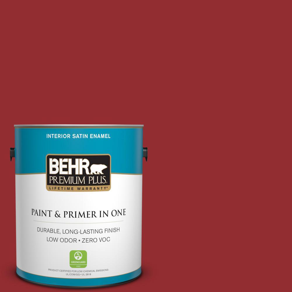 1 gal. #HDC-WR15-12 New Sled Satin Enamel Zero VOC Interior Paint