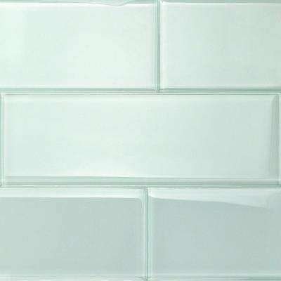 Contempo Seafoam 4 in. x 12 in. x 8mm Polished Glass Subway Wall Tile (1 sq. ft.)