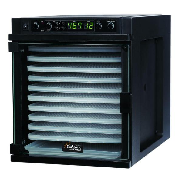 Tribest Sedona Express 11-Tray Black Food Dehydrator with Built-In Timer