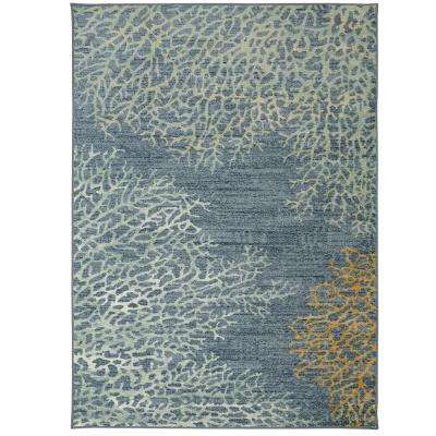 Coral Reef Multi 8 ft. x 10 ft. Indoor/Outdoor Area Rug