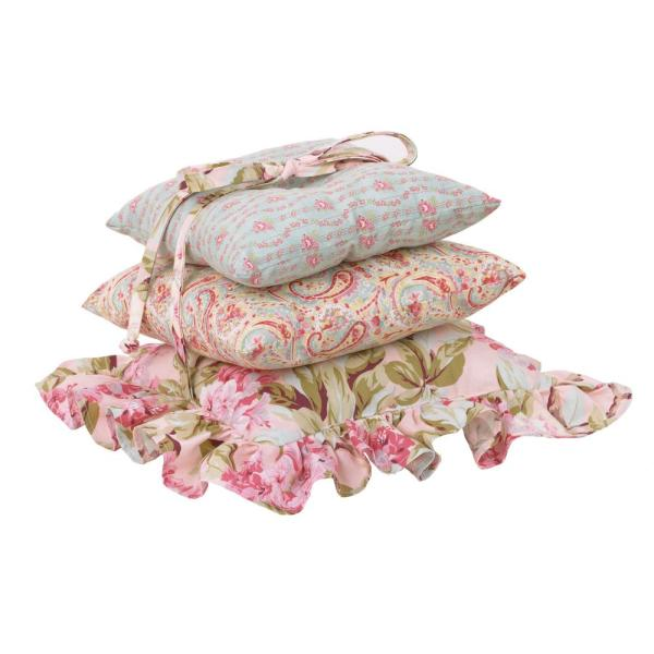 Cotton Tale Designs Tea Party Cotton Standard Throw Pillow Set Of 3 Tppp The Home Depot