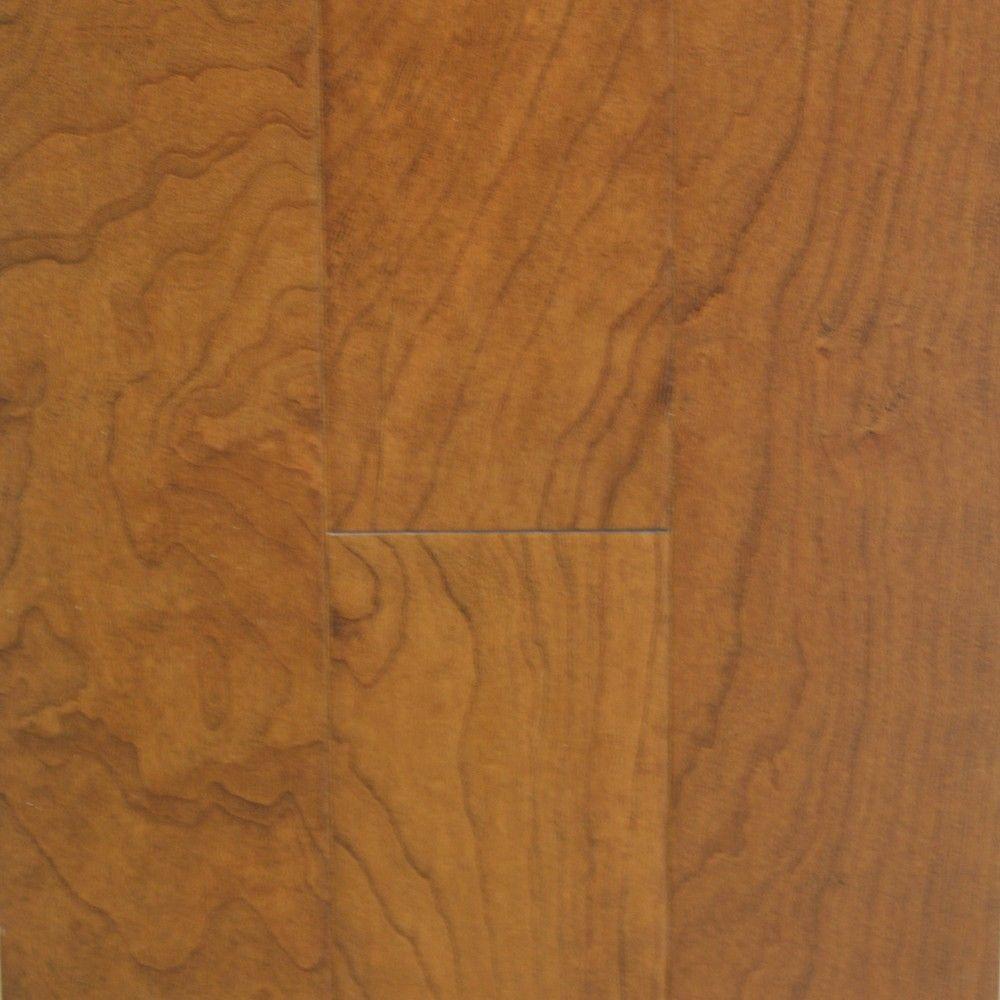 Millstead Take Home Sample - American Cherry Mocha Engineered Hardwood Flooring - 5 in. x 7 in.