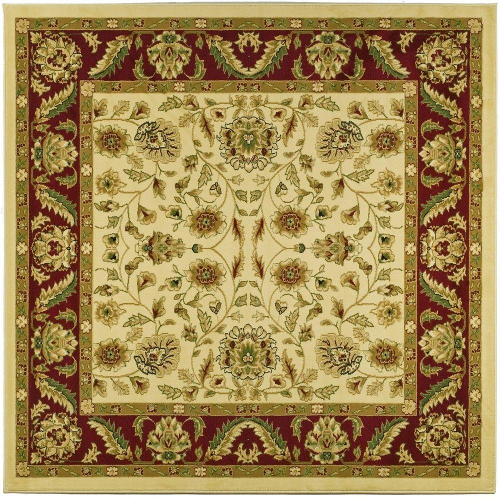 This Review Is From Lyndhurst Ivory Red 8 Ft X Square Area Rug