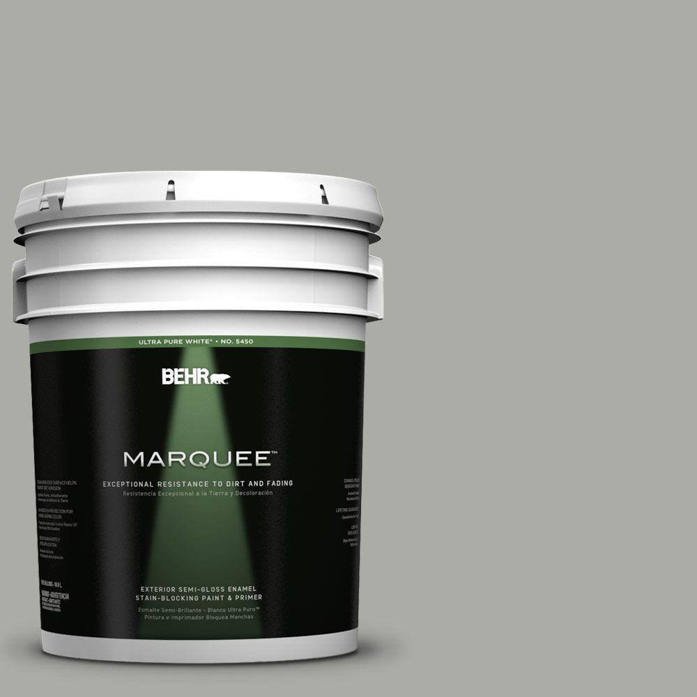 BEHR MARQUEE 5-gal. #PPF-39 Cool Granite Semi-Gloss Enamel Exterior Paint