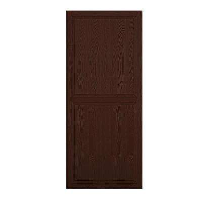 Solid Oak Double End Side Panel for 18 in. D Executive Wood Locker in Dark Oak