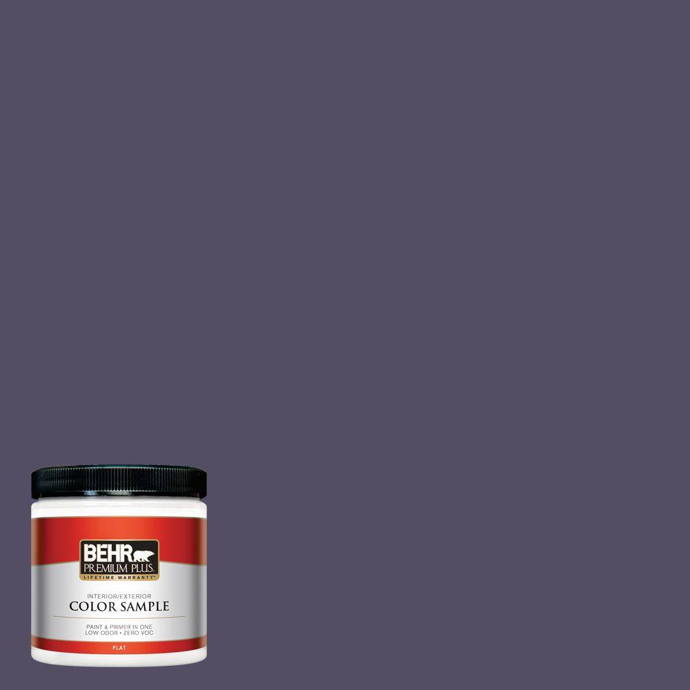 BEHR Premium Plus 8 oz. #650F-7 Violet Eclipse Interior/Exterior Paint Sample