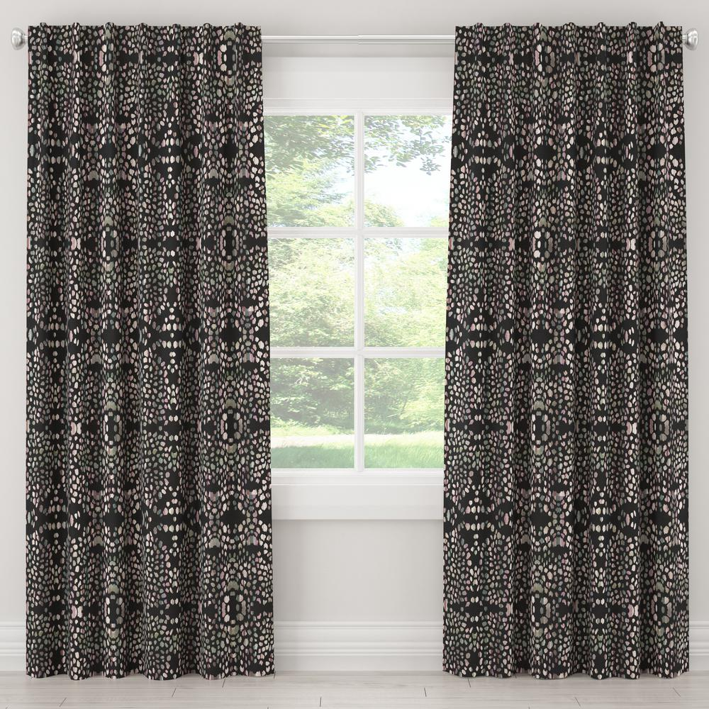 Skyline Furniture 50 in. W x 63 in. L Blackout Curtain in Mosaic Multi Ink