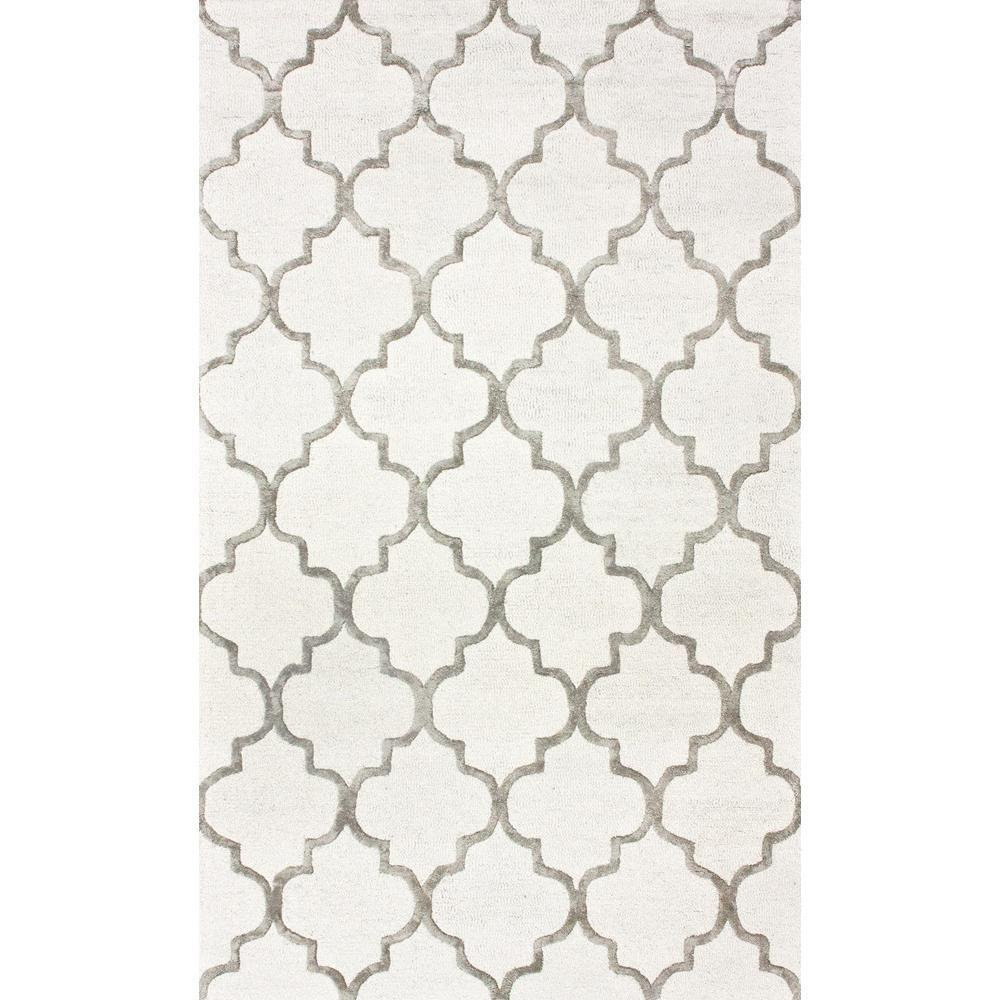 nuLOOM Park Avenue Trellis Nickel 8 ft x 11 ft Area Rug SBHAC13A