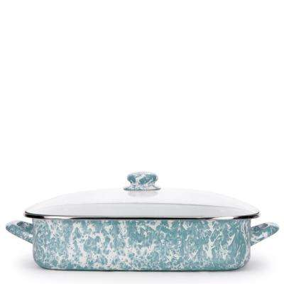 Sea Glass 10.5 qt. Enamelware Roasting Pan with Lid