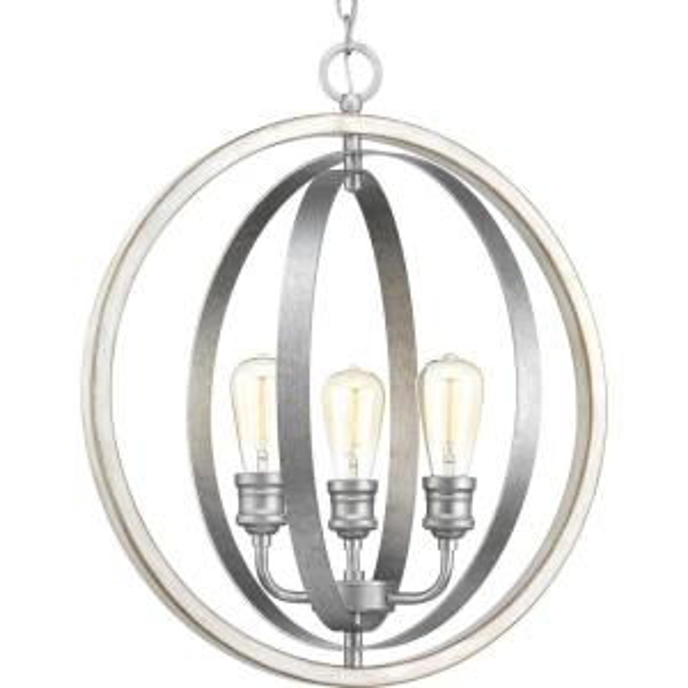 Conestee Collection 3 Light Galvanized Pendant Progress Lighting
