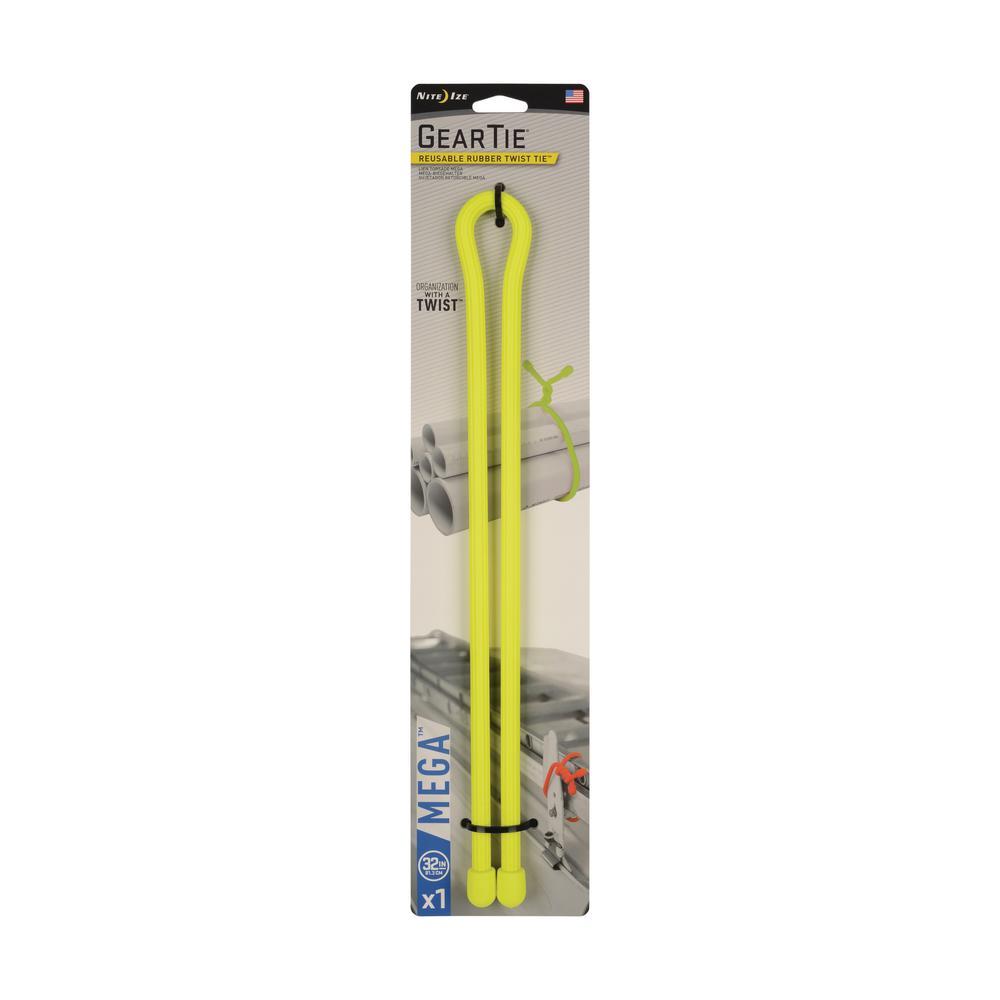 32 in. Gear Tie Mega Twist Tie in Neon Yellow