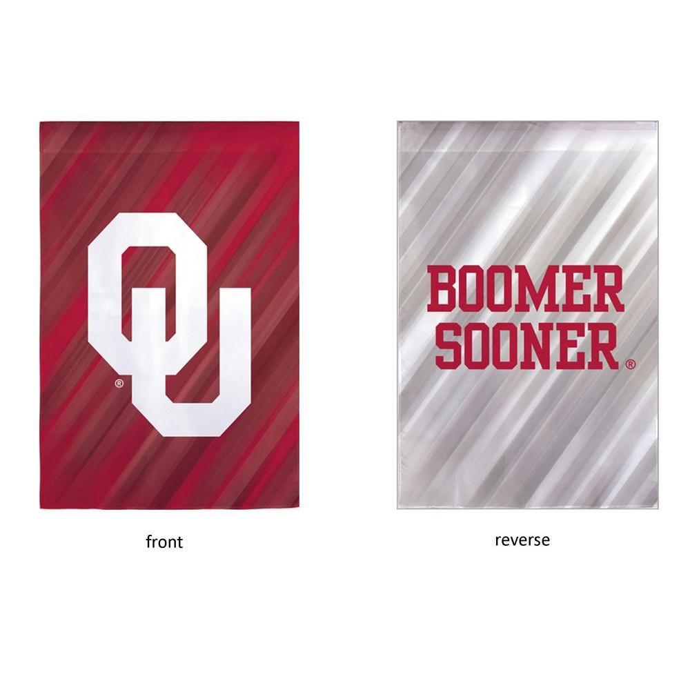 Fan Essentials NCAA 18 in. x 12.5 in. University of Oklahoma Suede Garden Flag