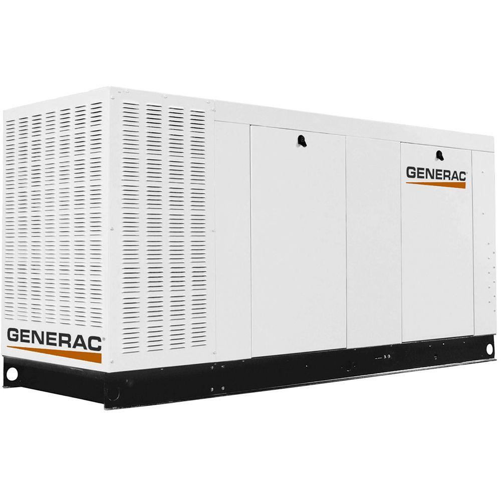 80,000-Watt 120-Volt/208-Volt Liquid Cooled Standby Generator 3-Phase with Aluminum Enclosure