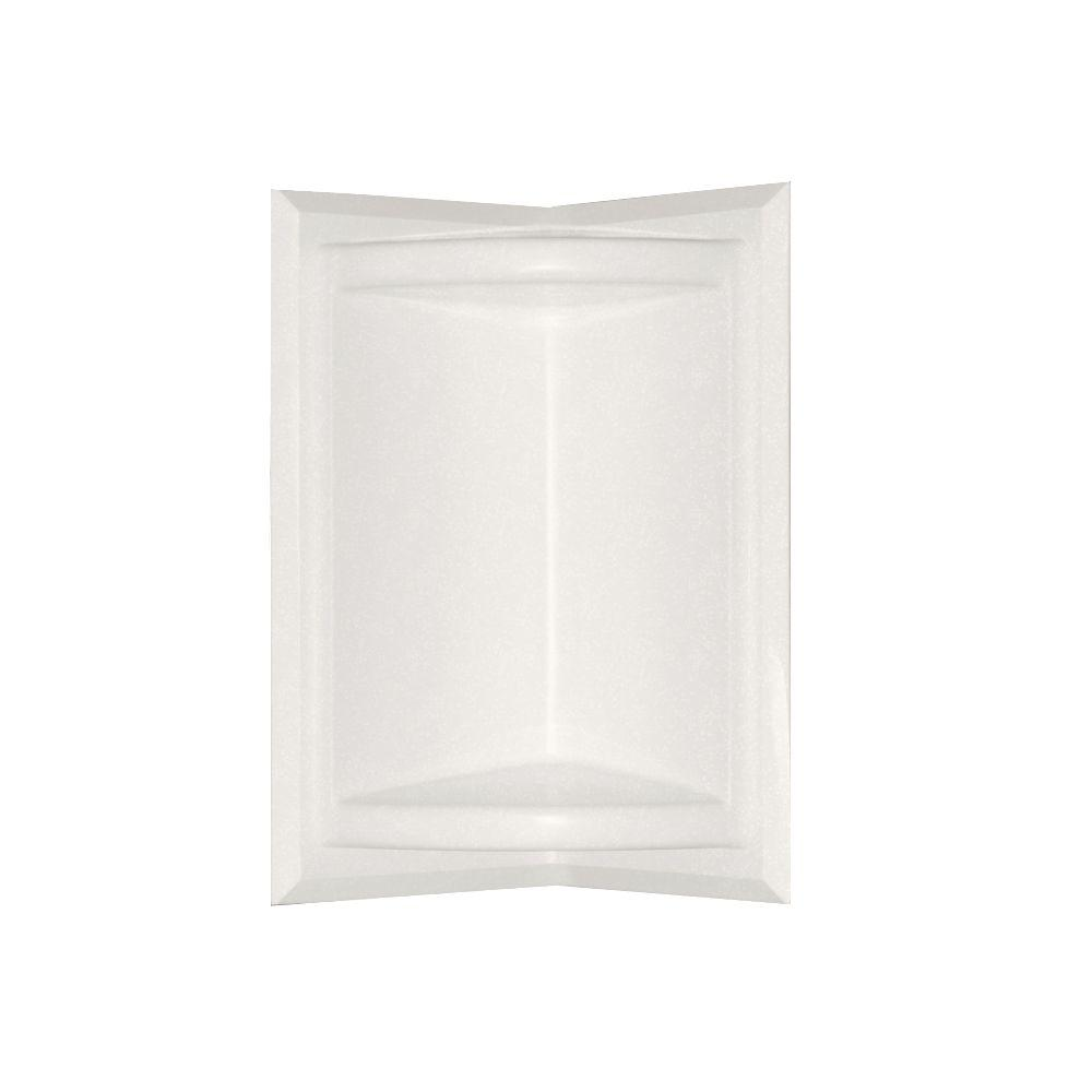5.75 in. x 11 in. Corner-Mount Solid Surface Soap Dish in