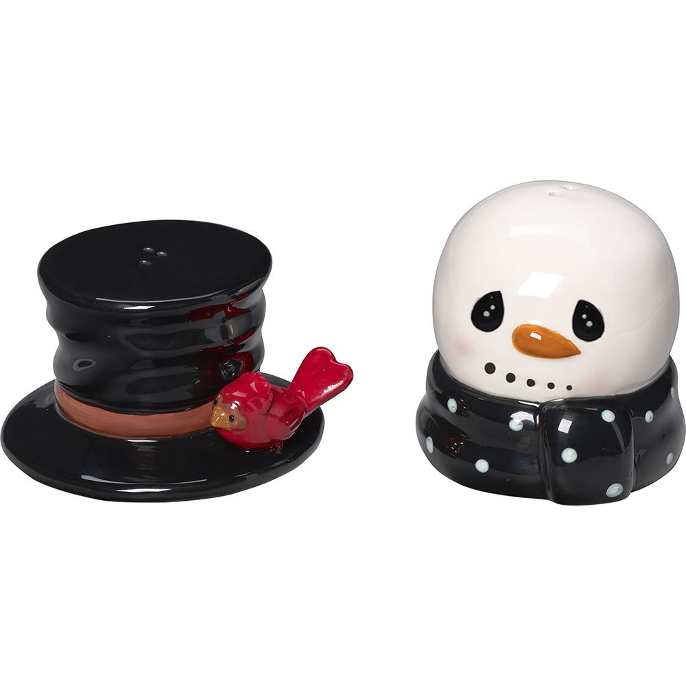 4 in. Ceramic Snowman with Top Hat Salt and Pepper Shaker (Set of 2)