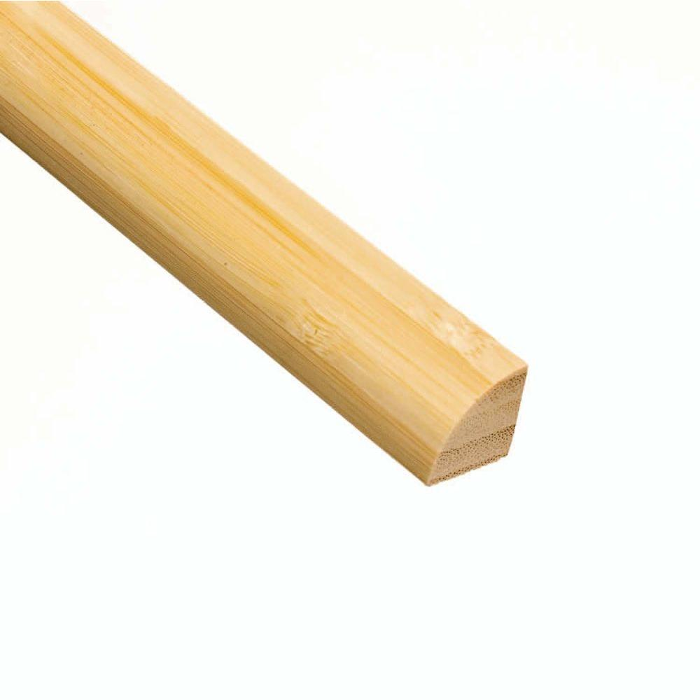Home Legend Horizontal Natural 3/4 in. Thick x 3/4 in. Wide x 94 in. Length Bamboo Quarter Round Molding