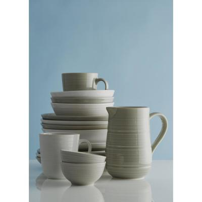 William Mason 12-Piece Ceramic White Dinnerware Set
