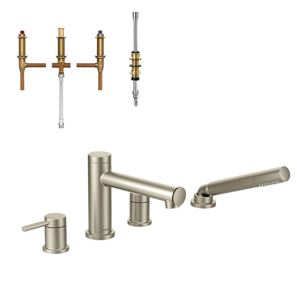 MOEN Align 2-Handle Deck Mount Roman Tub Faucet Trim Kit with ...
