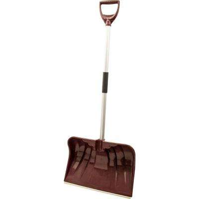 20 in. Aluminum Handle and Poly Combo Blade with Wearstrip Snow Shovel