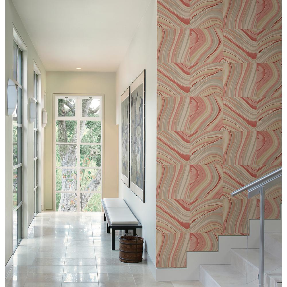 Agate Coral Stone Wallpaper Sample