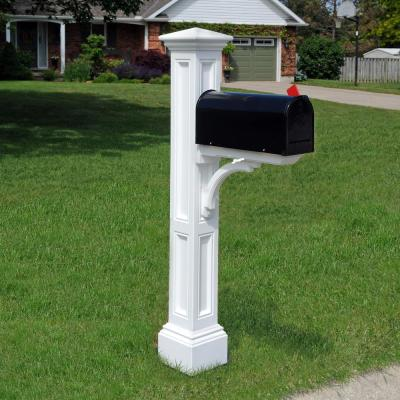 Mayne Dover Mailbox Post White 581000000 The Home Depot