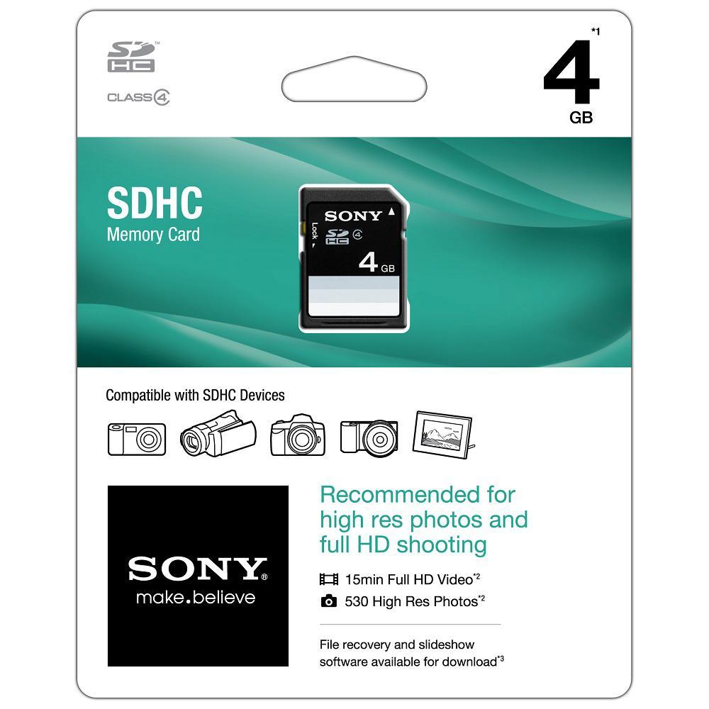 4GB Class 4 SDHC Memory Card