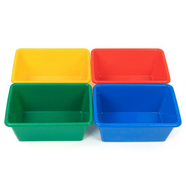 Primary Collection Plastic Small Storage Bins (Set of 4)