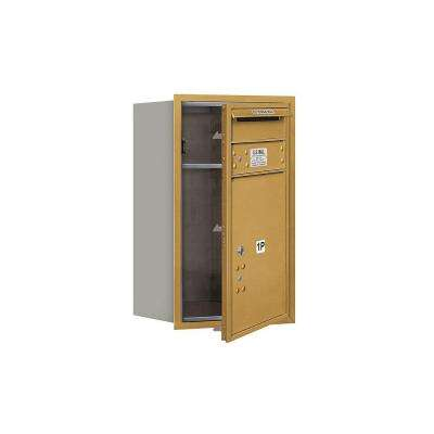 3700 Series Private Front Loading 7 Door High Unit 27 in. Parcel Locker 1 PL5 4C Horizontal Mailbox in Gold