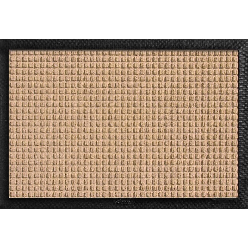 Aqua Shield with Rubber Border Medium Brown 17.5 in. x 26.5 in. Pet Mat
