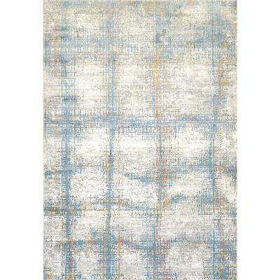 VALLEY GREY/BLUE 2FT X 3FT 11IN TRADITIONAL VISCOSE AREA RUG