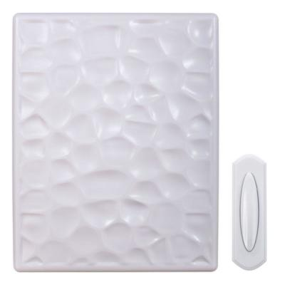 Hammered White Plastic Wireless Door Chime Kit