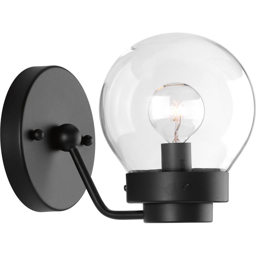 Spatial Collection 1-Light Black Bath Light