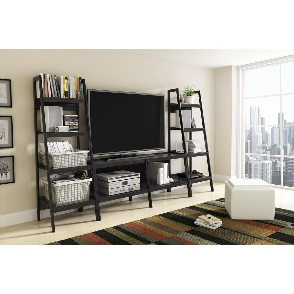 Altra Furniture Ladder Bundle 4 Shelf Bookcase In Black