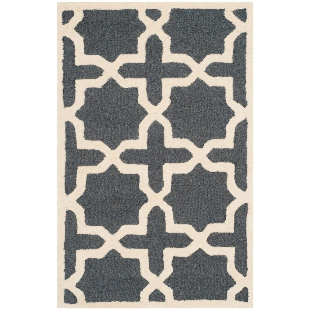 Cambridge Dark Gray/Ivory 3 ft. x 5 ft. Area Rug