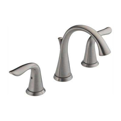 Lahara 8 in. Widespread 2-Handle Bathroom Faucet with Metal Drain Assembly in Stainless