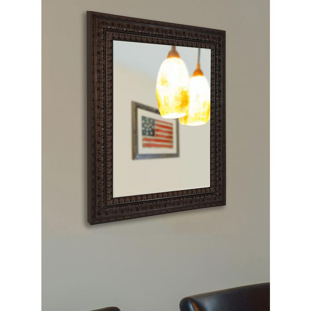 48 in x 36 in dark embellished non beveled vanity wall for Mirror 42 x 36